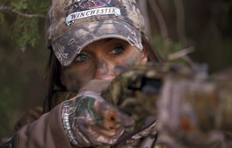Melissa_eyes_down_turkey_gun